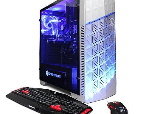 CYBERPOWERPC Gamer Ultra GUA882 Desktop Gaming PC (AMD FX-4300 3.8GHz, AMD R7 240 2GB, 8GB DDR3 RAM, 1TB 7200RPM HDD, Gain 10 House), White