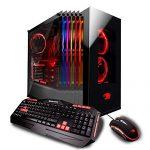 iBUYPOWER Skilled Gaming Desktop PC ELEMENT003i Intel i7-8700K 3.7 GHz, NVIDIA Geforce GTX 1080 8GB, 16GB DDR4 RAM, 2TB HDD, 480GB SSD, Liquid Cooled, 802.11AC WiFi, Catch 10 Dwelling, VR Ready