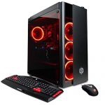 CYBERPOWERPC GXiVR8080A3 Overclockable Gaming PC Desktop (Liquid Cooled i7-8700K 3.7GHz, Z370 Motherboard, 16GB DDR4, NVIDIA GeForce RTX 2080 8GB, 240GB SSD, 1TB HDD, 802.11AC WiFi & Score 10) Dim