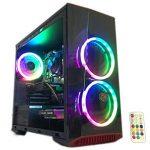 Gaming PC Desktop Computer Intel i5 Three.20GHz,8GB Ram,1TB Hard Pressure,House windows 10 qualified,WiFi Prepared,Video Card Nvidia GTX 650 1GB, Three RGB Fans with Faraway
