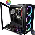 CUK Stratos Micro Gaming Desktop (AMD Ryzen 3 3200G + Radeon Vega 8 Graphics, 16GB 3000MHz DDR4 RAM, 256GB SSD, 500W PSU, No OS) Gamer PC Pc