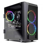 Skytech Blaze II Gaming Computer PC Desktop – RYZEN 7 2700X eight-core 3.7 GHz, RTX 2060 Immense 8G, 500GB SSD, 16GB DDR4 3000MHz, RGB Fans, Windows 10 House